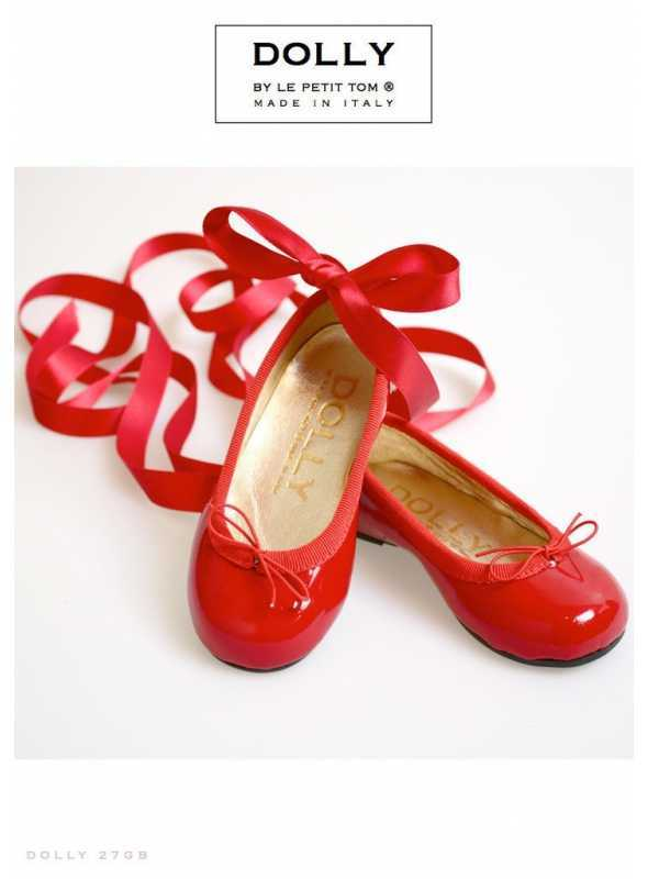 DOLLY by Le Petit Tom ® CLASSIC BALLERINA'S ' Red Apple' 27GB RED PATENT