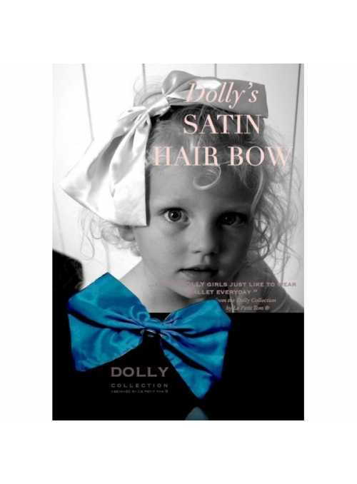 CLASSIC SATIN HAIR BOW emerald