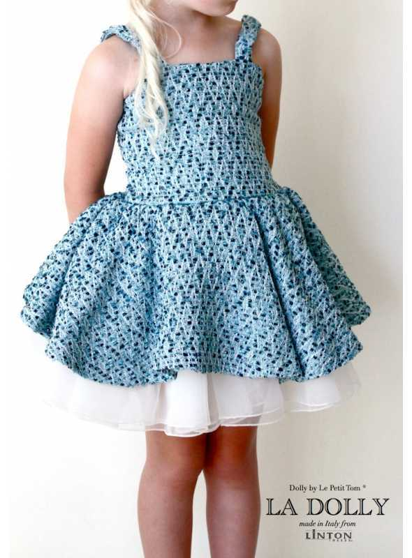 La DOLLY blue/white dress