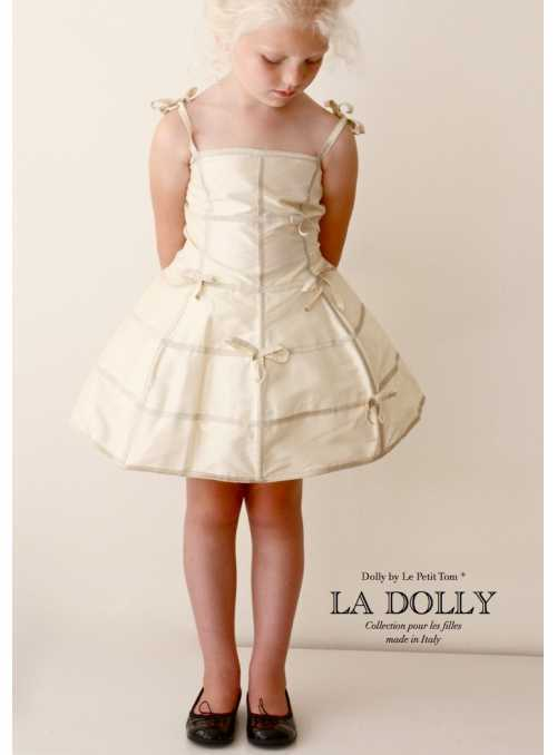 "LA DOLLY ""mannequin dress"" – cream"