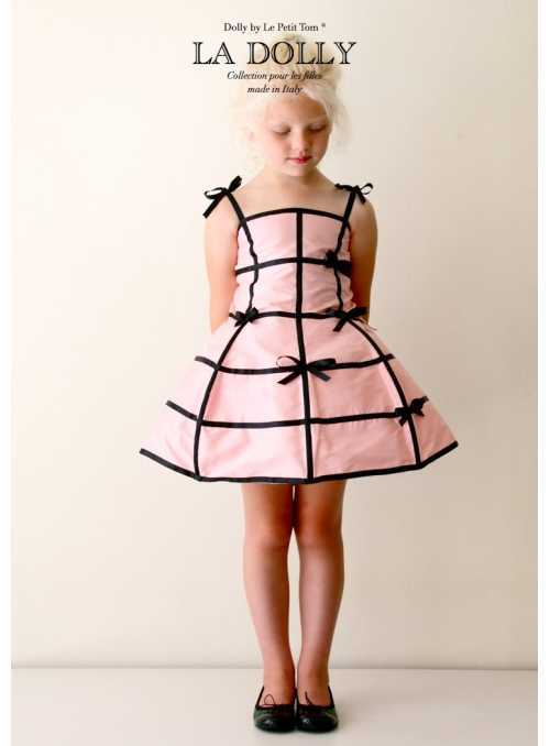 "LA DOLLY ""mannequin dress"" – pink + black"