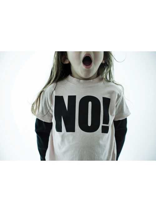 Children's  t-shirt with long sleeves NO! Gray