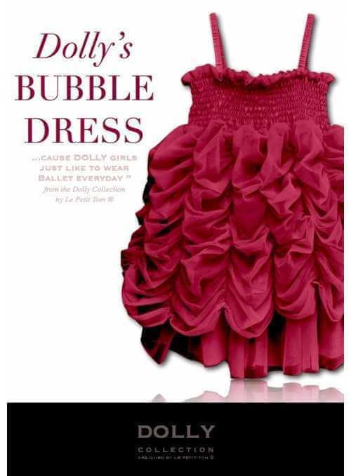BUBBLE DRESS ruby red