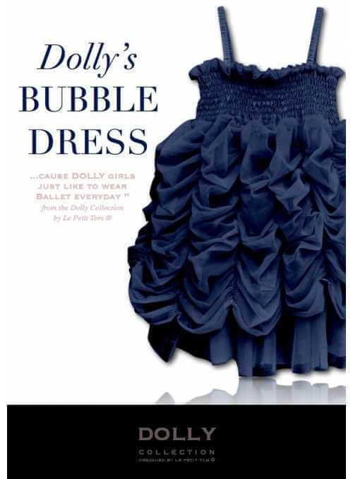 BUBBLE DRESS dark blue