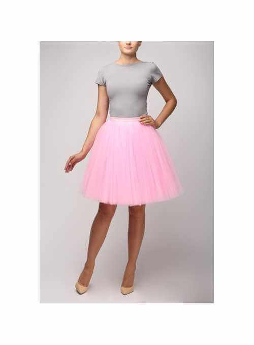 Sweet pink tulle skirt – 58cm short