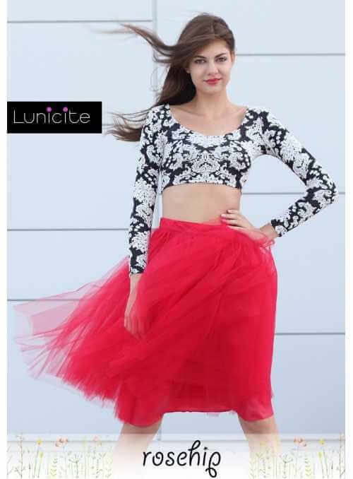 Lunicite ROSE HIP – exclusive tulle skirt from herb collection